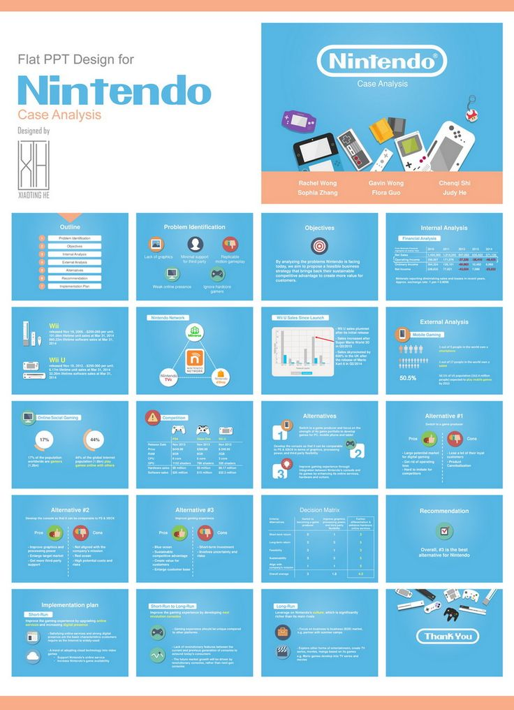 Flat PPT Design for Nintendo Case Analysis by plutoho