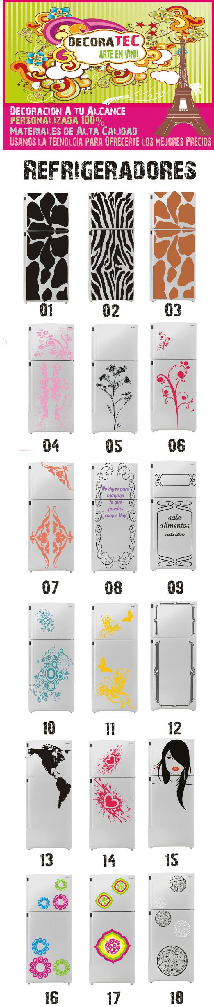 Skin y vinilos para decorar tu refrigerador, heladera, frigobar http://www.pinterest.com/midalas/