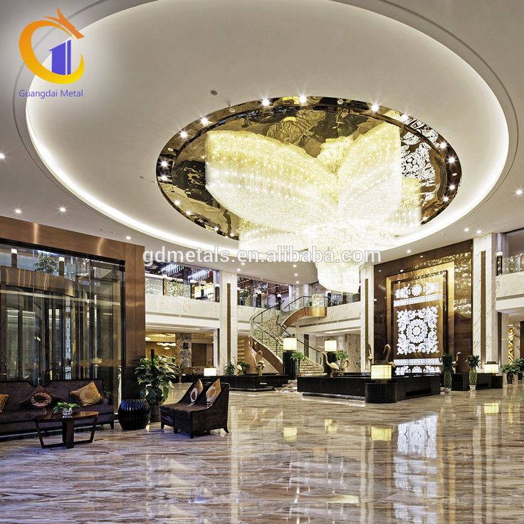 Hotel Stainless Steel Decorative Interior Lightweight Laser Cut Metal Ceiling Panels