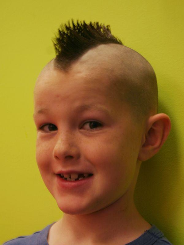 Boy With Mohawk Haircut Mohawk Boys Fohawk Haircut