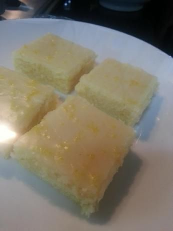 Lemony Lemon Brownies. http://www.food.com/recipe/lemony-lemon-brownies-499705