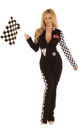 Sexy Black Race Car Driver Costume - Racing Car Costumes