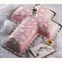 cross cake floral