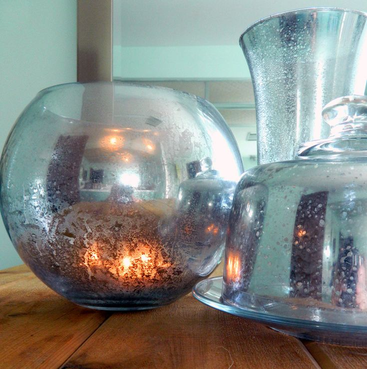 Diy Mercury Glass This Blog Also Has A Tutorial On How To