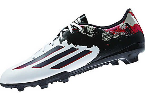 adidas Messi 10.3 FG Soccer Cleats - White and Granite...at www.soccerpro.com now.