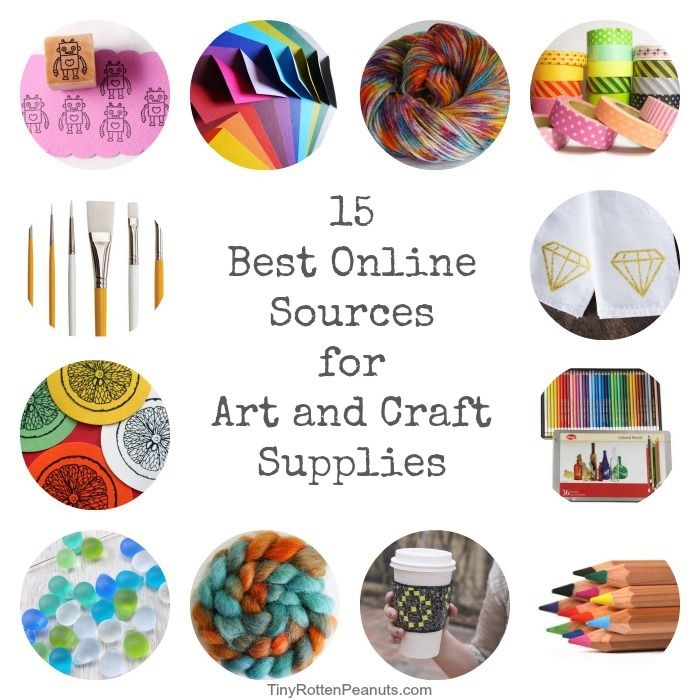 15 of the BEST places to buy art and craft supplies online from @jeanettenyberg
