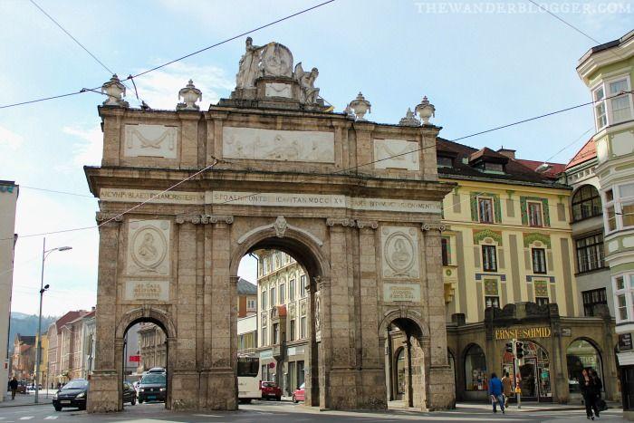 Triumphal Arch   Historical Monuments Walk In Innsbruck, Austria