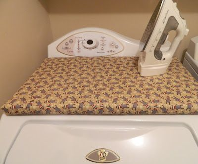 make your own ironing board to fit on top of the dryer