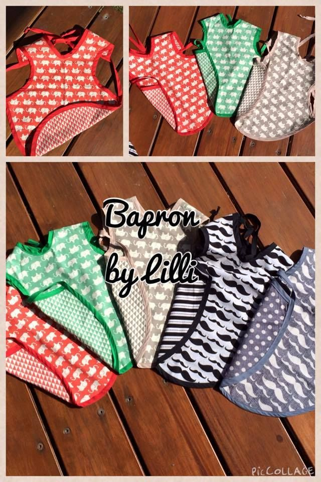 Made by Lilli Bib and apron in one! Reversible Bapron