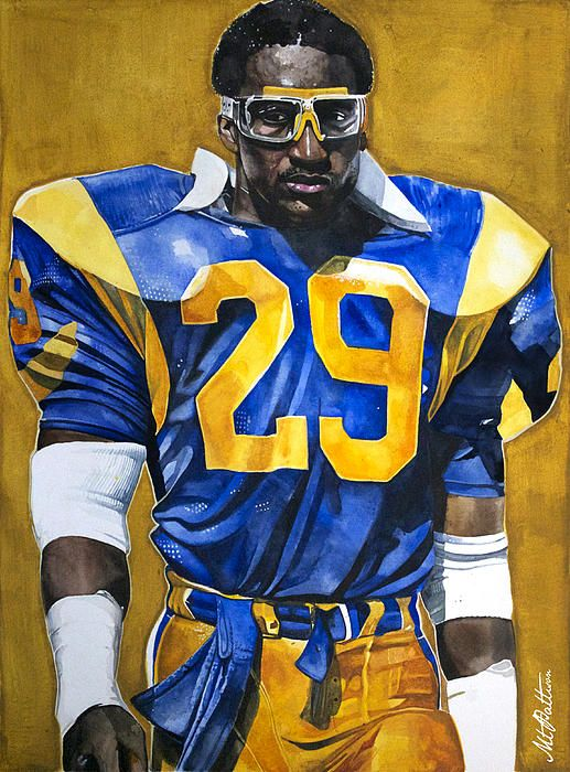 Eric Dickerson St. Louis Rams Watercolor. #rams #nfl #art if u love sports art follow this really cool sports artist!!