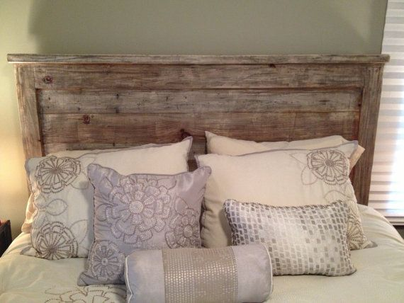 Distressed Handmade Framed Headboard by BoardsbyBrandon on Etsy, $300.00