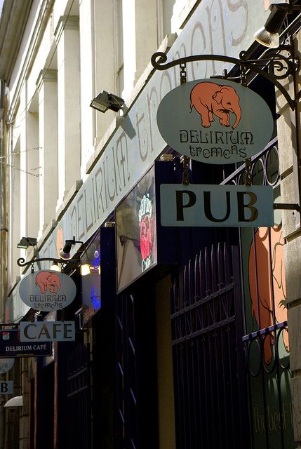 Delirium Cafe - Brussels, Belgium - this was amazing...I can't really remember though doh!