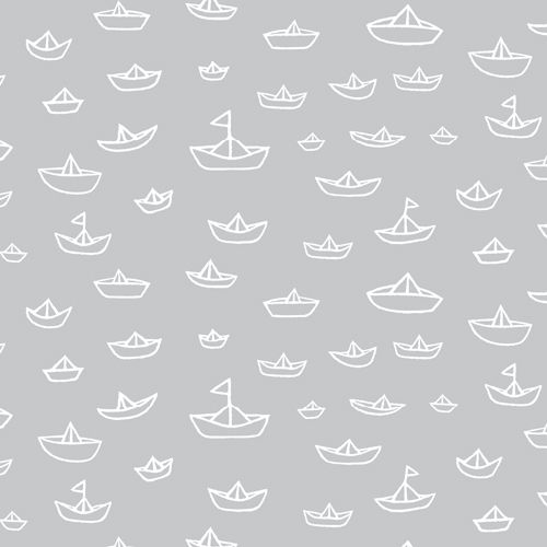 Red Nautical Boat Fabric - The Fleet by Cloud9 - 1/2 Yard
