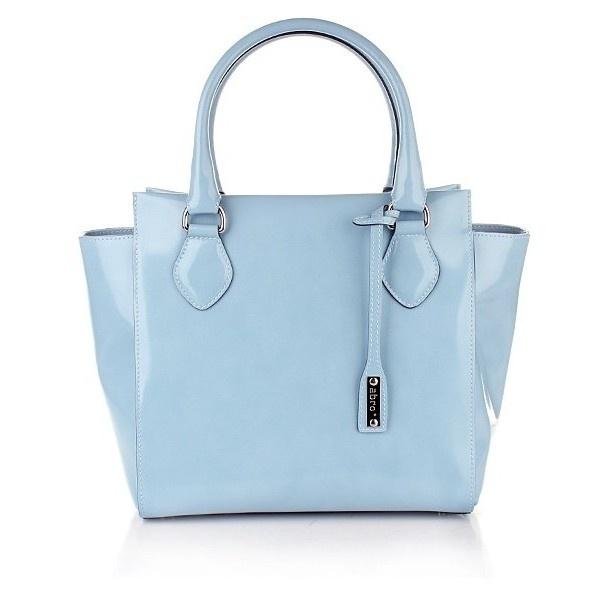 Abro Handtasche Leder Specchio Light Blue ($29) ❤ liked on Polyvore