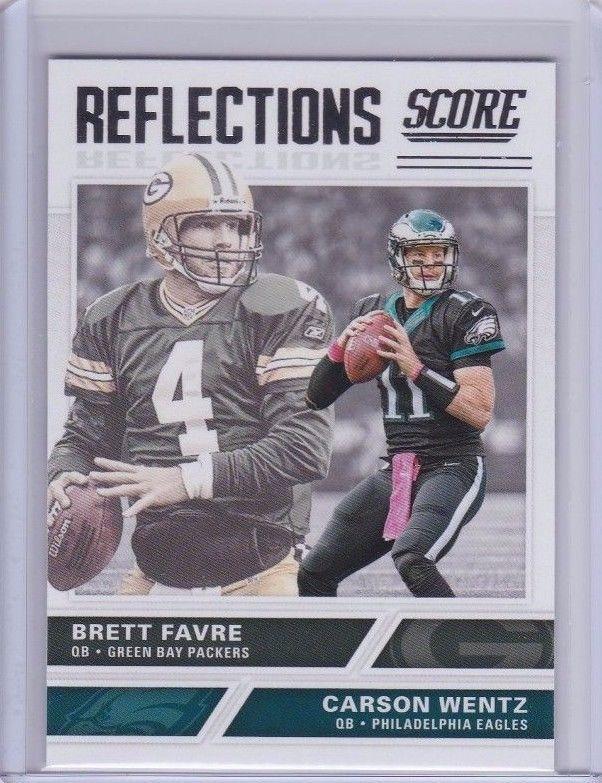 2017 Score Reflections Green Bay Packers Brett Favre Philly Eagles Carson Wentz