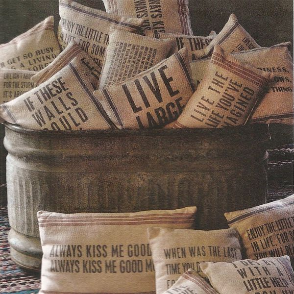 right at home flour grain and vintage potato sacks, home decor, repurposing upcycling, via Iron Accents