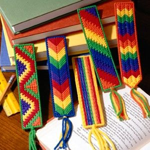 Leisure Arts - Bright Bookmarks Plastic Canvas Patterns ePattern, $2.99 (http://www.leisurearts.com/products/bright-bookmarks-plastic-canvas-patterns-digital-download.html)