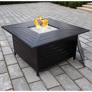 Paramount® Cast Aluminum Square Propane Fire Table