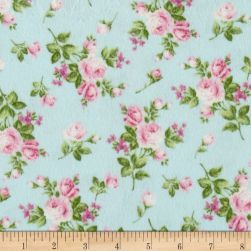 Afternoon In The Attic Flannel Heirloom Floral Sweet Pea