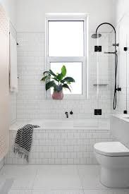 Image result for bathroom subway tiled bath next to shower
