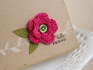 2 layer crochet flower ~ free pattern