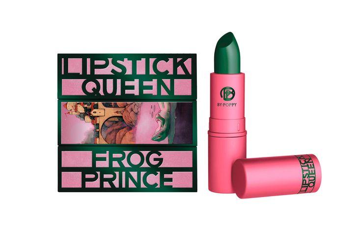 LIPSTICK QUEEN Frog Prince ist ein wahrer Zauberstift! Dieser Lippenstift verwandelt sich auf den Lippen in ein zartes Rosé. Nur nicht täuschen lassen: Kommt die dunkelgrüne, semi-transparente Textur mit der Wärme Ihrer Lippen in Berührung, verwandelt sie sich in einen zarten Rosé-Ton.