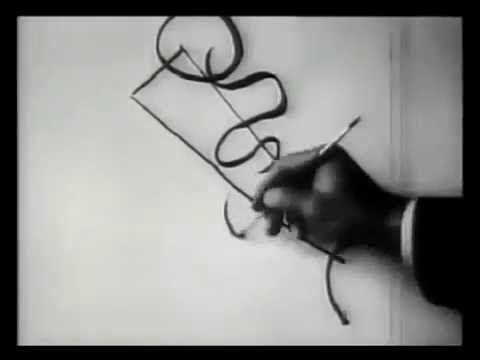 Василий Кандинский рисует.  1926 год - YouTube