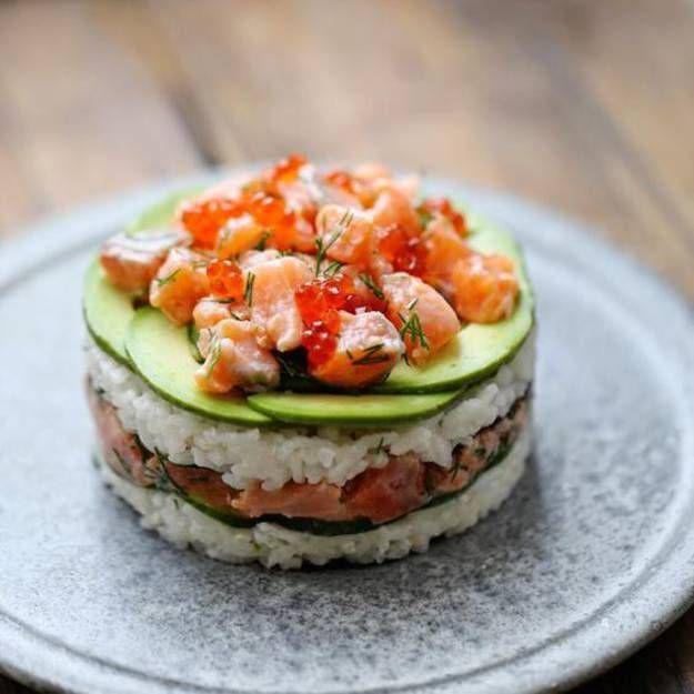 Vous prendrez bien un peu de sushi cake ?