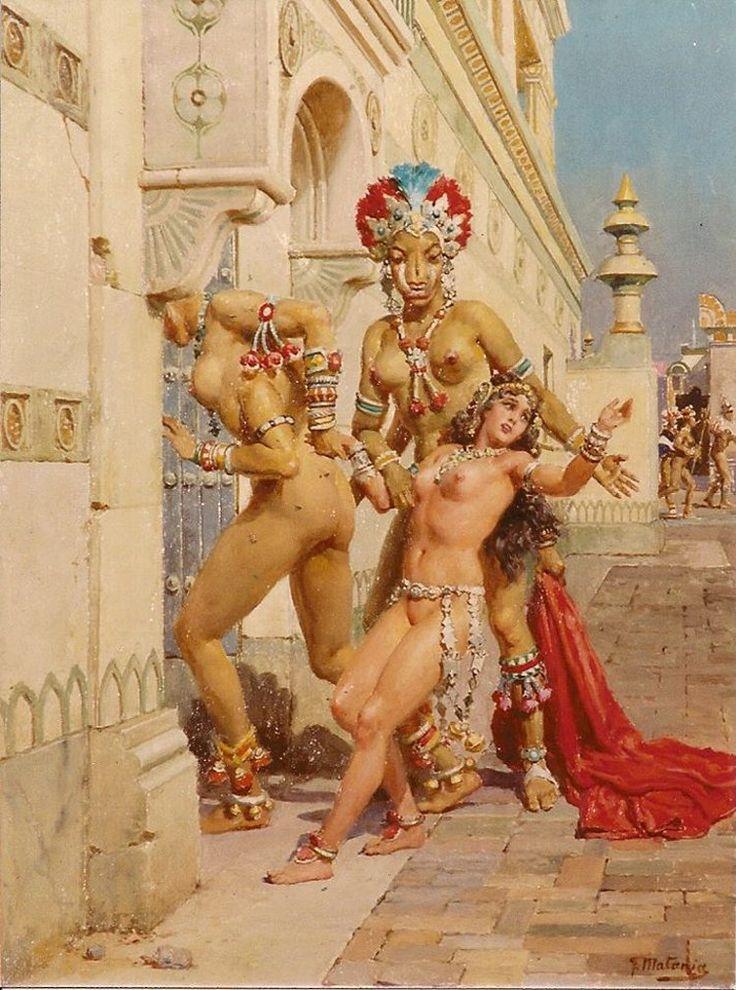 Mughal King Queen Erotic Harem Scene