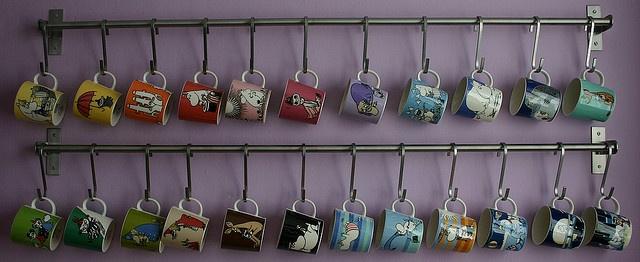 "Muumin mugs by Arabia. ""Moomin mugs"" by lavenderlulu @ flickr.com #moomin #mug #arabia #finland #kitchen"