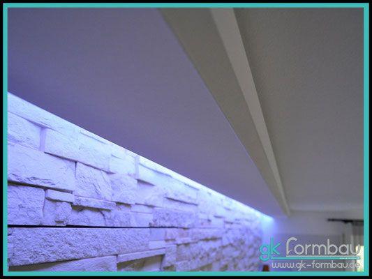 New Lichtvoute mit Schattenfuge aus Gipskarton
