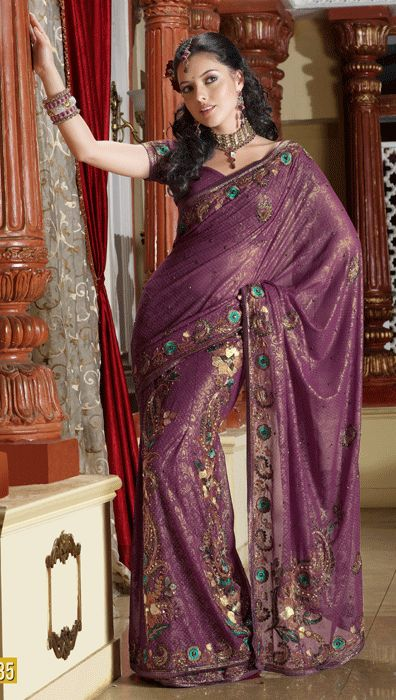 Dark Color Sarees | Bridal Sarees | Designer Bridal Saris | Indian Bridal Saree Online