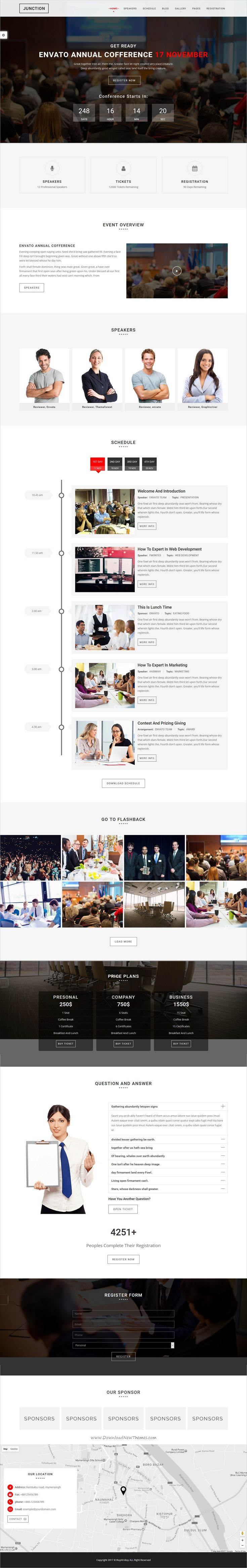 Junction is modern and clean design responsive HTML #bootstrap template for #conference, #meetup , seminar, function, festival, business or any kind of event websites download now➩ https://themeforest.net/item/junction-event-meeting-conference-business-template/19390956?ref=Datasata