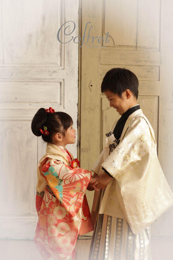 kimono. little boy and little girl. #kimono #japan