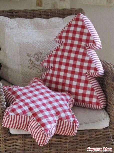 Новогодние подушки для радости и уюта