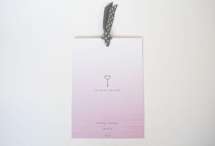 Key to my Heart Wedding Invitation range sarahcoll.com