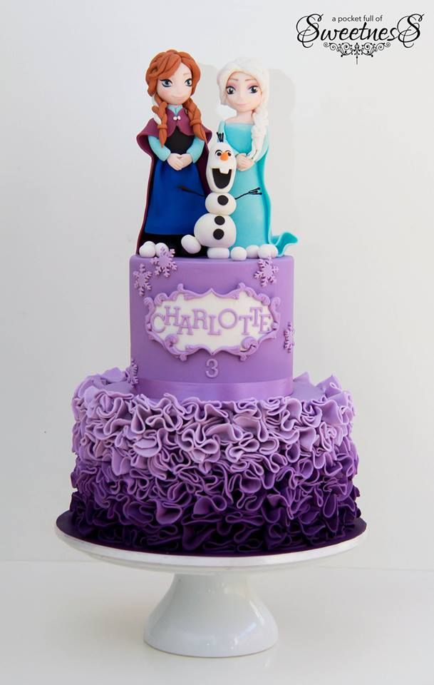 Little Wish Parties | Frozen themed birthday cake | https://littlewishparties.com