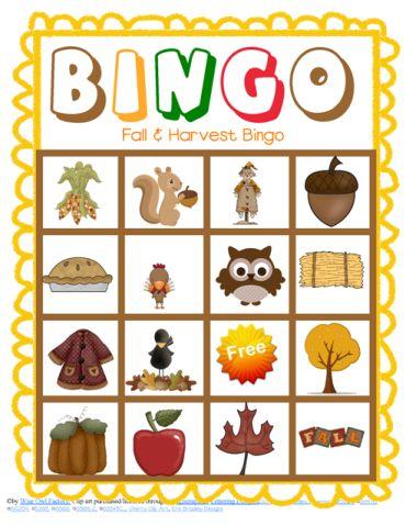 free-fall-and-harvest-bingo sample game board