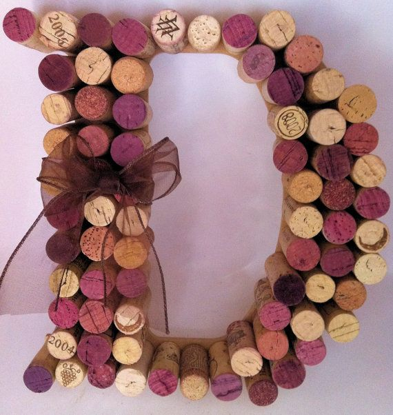 Monogram Cork Letter by WineyBitch on Etsy