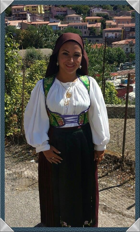 My gorgeous cousin wearing the traditional costume of Laconi, Sardinia