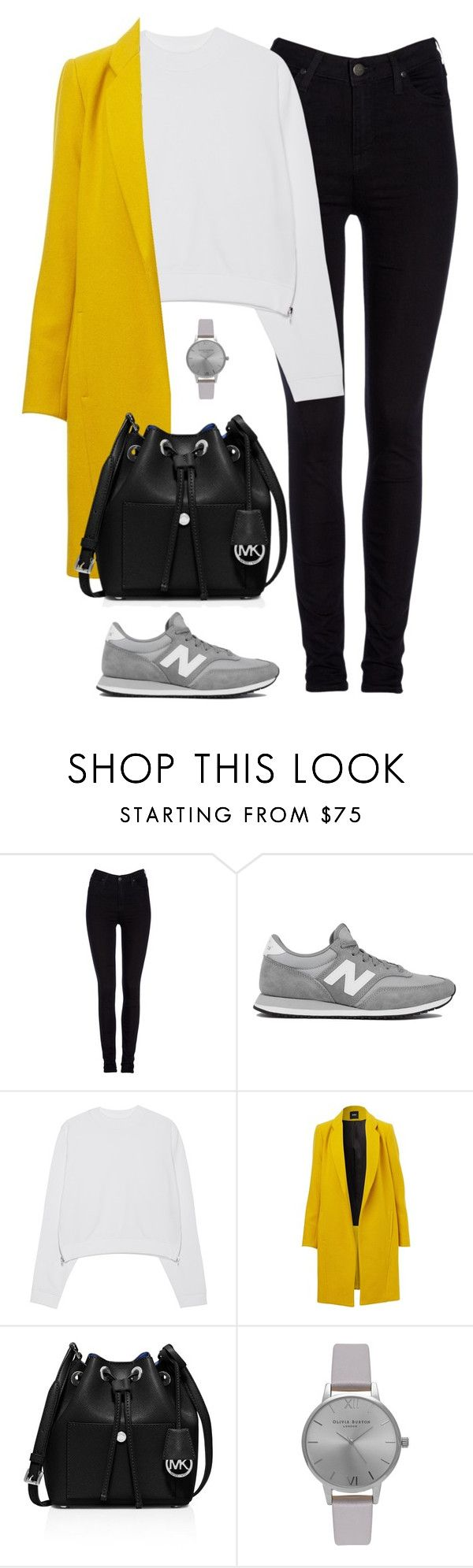 """Pop of color"" by christyandnef on Polyvore featuring Lee, New Balance, Acne Studios, MICHAEL Michael Kors, Olivia Burton, women's clothing, women, female, woman and misses"