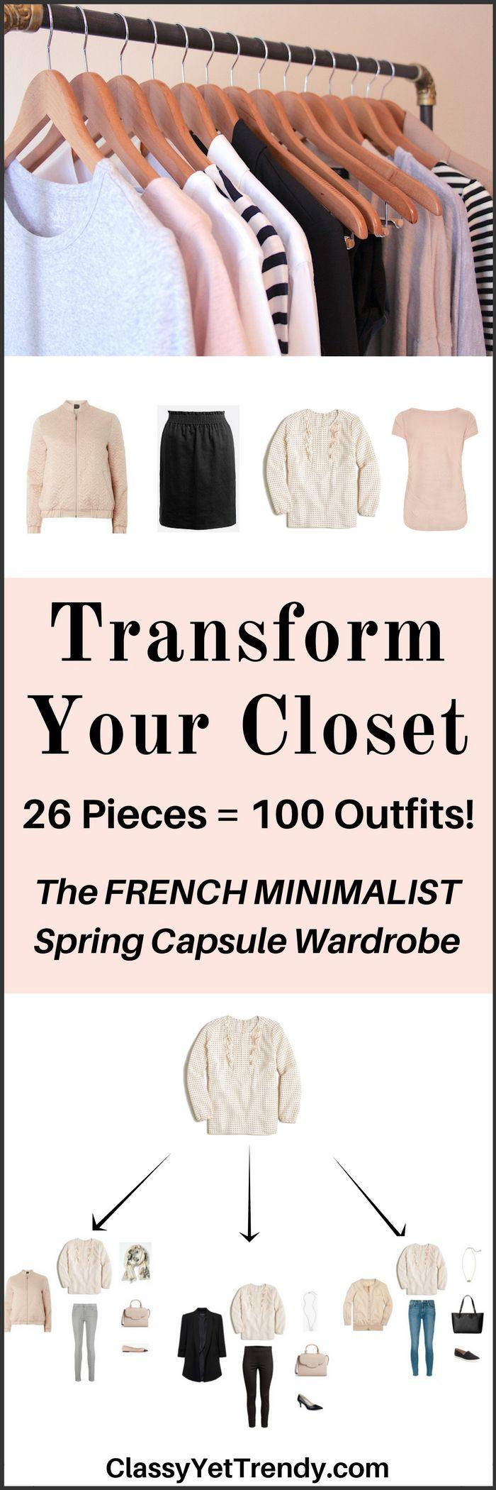 The French Minimalist Capsule Wardrobe e-book- Spring 2017