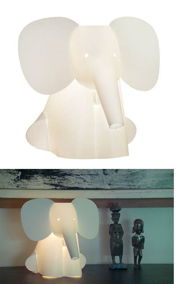 Elephant Lamp, cute but $90 :( I so want this. I look at it every single time I walk by a local baby store.