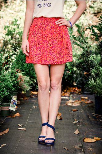 Panama City Orange Batik Skirt   Basic Skirt   Indonesia   shopgofish.com