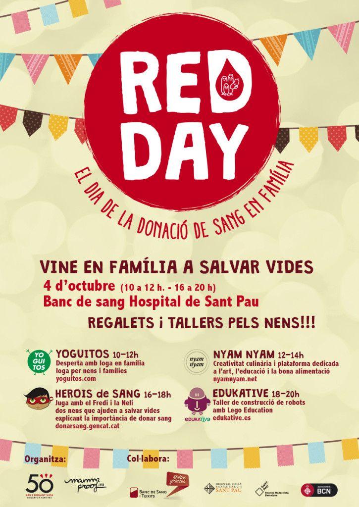 EDUKATIVE tiene una importante petición que haceros. Apuntad en vuestra agenda lo siguiente… El sábado 4 de octubre se celebra el RED DAY (El día de la donación de sangre en familia en el Hospital de Sant Pau). Este año…Leer más ›