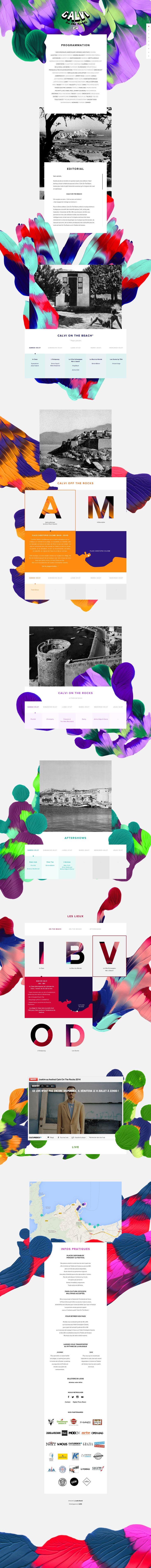Unique Web Design, Calvi On The Rocks #WebDesign #Design