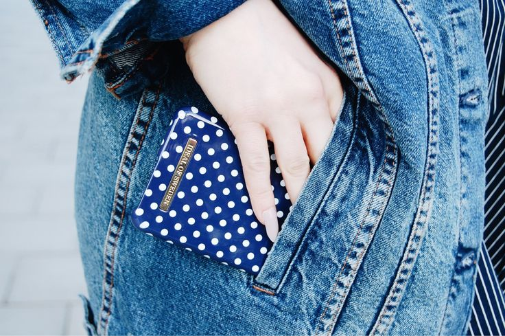 Blue Polka Dots by lovely @jasminnikolausson - Fashion case phone cases iphone inspiration iDeal of Sweden #Pokadots #blue #marin #fashion #inspo #iphone