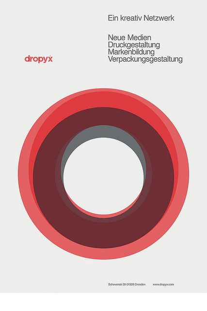 dropyx, minimal poster. Collected By: http://www.rotterdam-vormgeving.nl