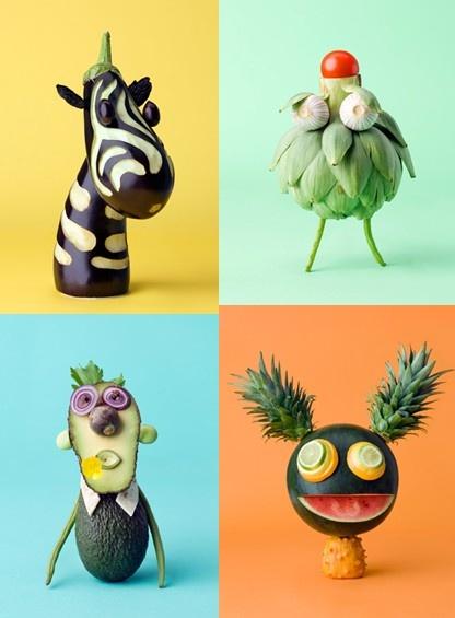 carl kleiner vegetable fruits sculpture