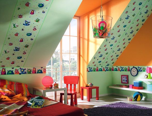 64 besten kids rooms Bilder auf Pinterest Tapeten, Bemalte - babyzimmer orange grn